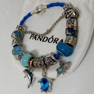 Pandora Bracelet w/ Ocean Charms